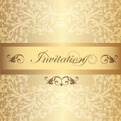 Wedding Invitation card in luxury vintage style — Stock Vector