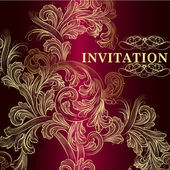 Luxury vector invitation card in vintage style — Stock Vector