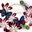 Fashion vector background with butterflies — Stock Vector #37041773