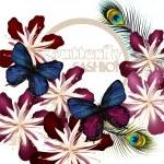 Мода Векторный фон с бабочками — Cтоковый вектор #37041773