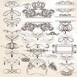 Collection of vector vintage decorative elements for design — Stock Vector #37761915