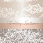 Wedding invitation card in pastel color — Stock Vector