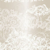 Elegant seamless floral pattern background with ornament — Vettoriale Stock