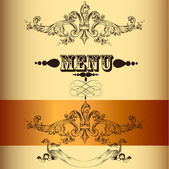 Elegant menu design in vintage style — Stock Vector