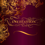 Elegant invitation card in luxury style — Stock Vector
