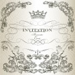 Elegant invitation card in vintage style — Stock Vector