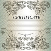 Certificate design in vintage style — Stock Vector