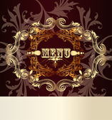 Elegant menu card for design — Stock Vector
