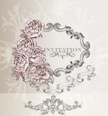 Elegant wedding invitation card for design — Stock Vector
