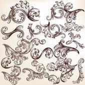 Set of vector swirls for design — Stock Vector