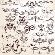Stock Vector: Vector set of decorative vintage flourishes for design