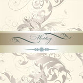 Wedding invitation design  in classic style — Vecteur