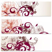 Business cards set in floral style — Stock Vector