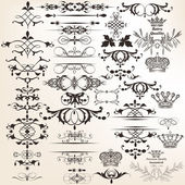 Collection of vector decorative elements for design — Stockvector
