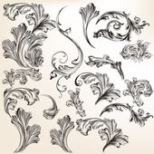 Collection of vector swirl flourishes for design — Stock Vector