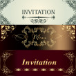 Collection of vector invitation cards in vintage style — Stock Vector #45701203