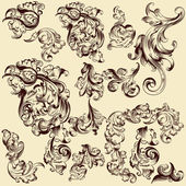 Collection of vector decorative swirls for design — Stock Vector