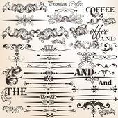 Set of vector vintage decorative elements for design — Stock Vector