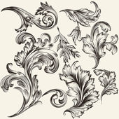 Collection of vector flourishes — Stock Vector