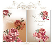 Wedding backgrounds set with roses — Stock Vector