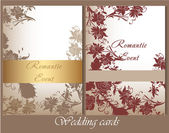 Collection of wedding cards in pastel colors — 图库矢量图片