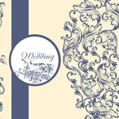 Wedding  pattern with flowers — Stockvector