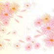 Beautiful clear back with flowers — Stock Photo #9504181
