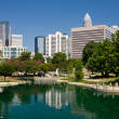 Charlotte, NC at Marshall Park — Stock Photo #18513219