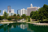 Charlotte, NC at Marshall Park — Stock Photo