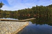 Boat Ramp at a Lake — Stock Photo
