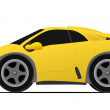 Yellow race car — Foto Stock