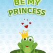 Be my princess card — 图库照片