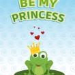 Be my princess card — Foto de Stock