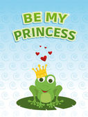 Be my princess card — Stock Photo