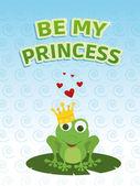 Be my princess card — Stock Photo
