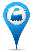 Icone de localisation de train — Photo