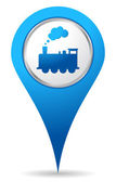 Train location icon — Stock Photo