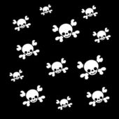 Pirates skull texture — Stock Photo