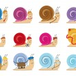 Snail characters — Stock Photo