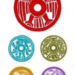 Mayan symbols — Stock Photo