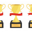 Stock Photo: Champion cups