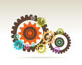 Gears teamwork — Stock Photo