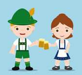 Oktoberfest couple — Stock Photo
