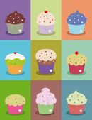 Cupcake frames — Foto de Stock