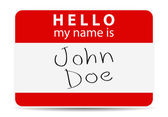 Red tag my name is — Stock Photo