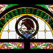 Stained glass mexican eagle — Foto de Stock