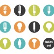 Bulbs icon set — Stock Photo
