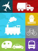 Transportation collage — Stock Photo