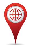Location world icon — Stock Photo
