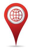 Icone de localisation mondiale — Photo